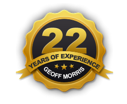 An image telling Geoff Morris' 22 years of experience