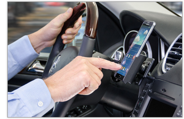 Hands free cell phone holder
